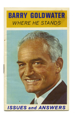 Barry Goldwater, where he stands, issues and answers, 1964