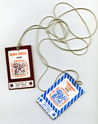 Passes, Democratic National Convention, Chicago, Ill., 1968