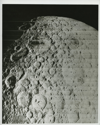 Moon's surface as photographed from Lunar Orbiter, 1966